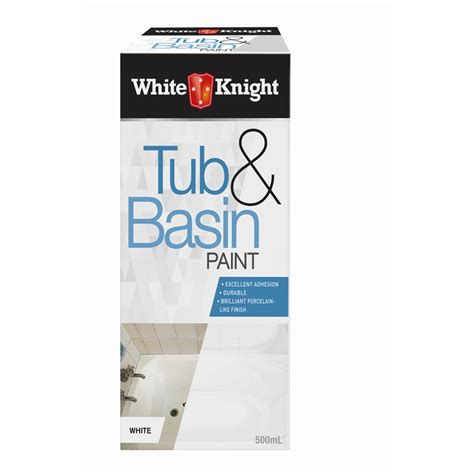 white bathtub paint white knight 500ml white tub and basin paint bunnings warehouse