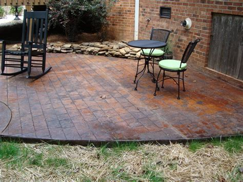 concrete patio designs with pit 48 for cheap