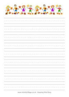 printable lined thank you paper free printable stationery for kids