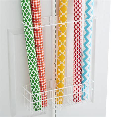 elfa gift wrap organizer white elfa utility gift wrap rack the container store