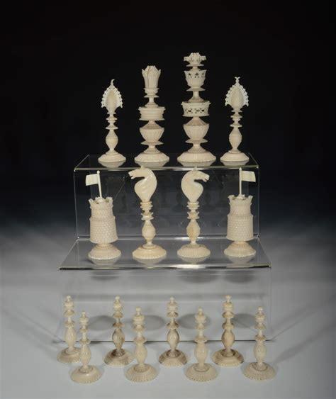 white chess set vizagapatam ivory chess set richard gardner antiques