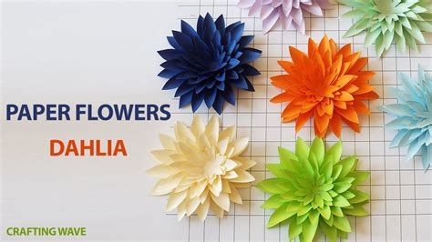 How To Make Flowers Out Of Paper For - como fazer uma flor de papel de parede de papel
