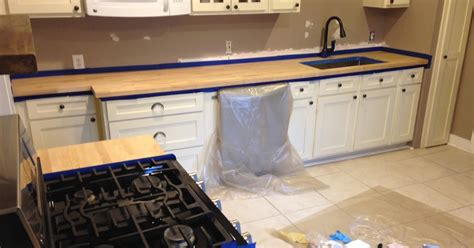 Staining And Sealing Butcher Block Countertops by Use Your Words Bungalow Kitchen Reno