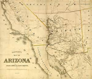 this is an image of s map of arizona territory