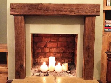 Wooden Lintel Fireplace by Oak Fireplace Beams Oak Beam Uk