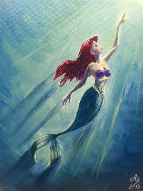 ariel painting the mermaid ariel original painting