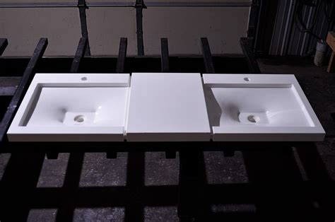custom double sink bathroom vanity hand made double sebastopolian vanity sink concrete by