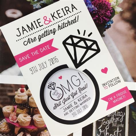 wedding invitations with matching save the date magnets wedding save the date magnets just got real design complete with matching backing