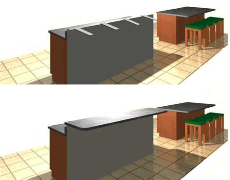 standard bar top overhang granite bracket standard with 4 off set mounting holes