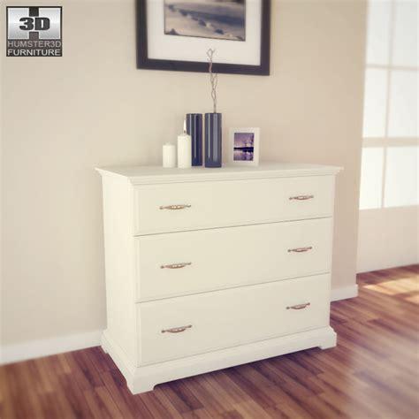ikea birkeland kommode ikea birkeland chest of 3 drawers 3d model hum3d