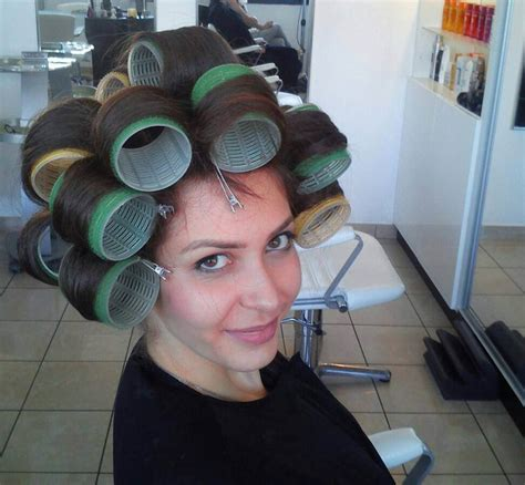 boys hair set in rollers such a turn on to c boys in hair curlers and looking so