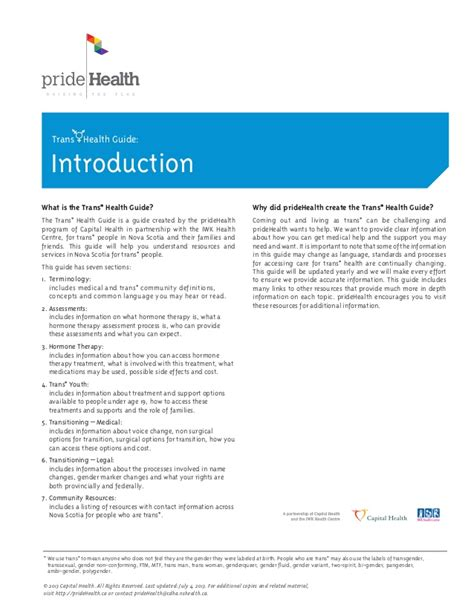 printable version of linkedin profile trans health guide print version all sections
