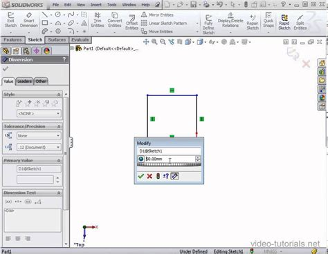 tutorial vba solidworks solidworks tutorial how to dimension using equations and