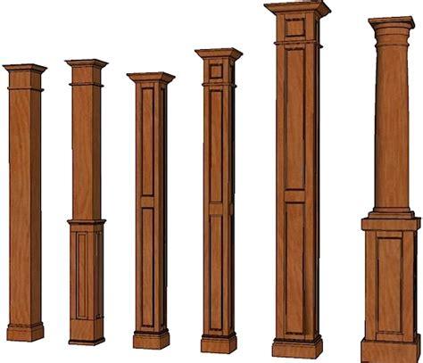 decorative interior posts ideas wood posts and columns columns stain grade columns