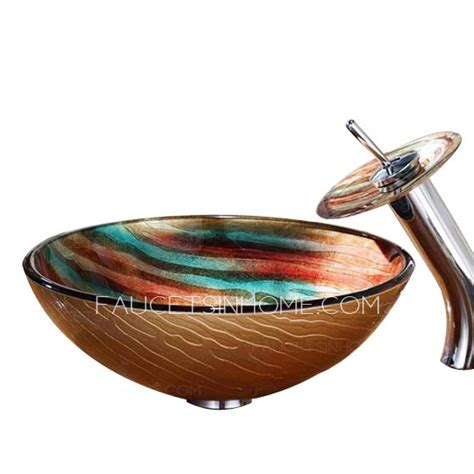 Bowl Faucets by Artistic Glass Sinks Rainbow Single Bowl With Faucet