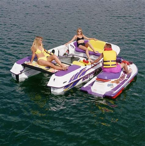 sea doo boat with detachable jet ski 7 best images about shuttle craft jet ski boat combo on
