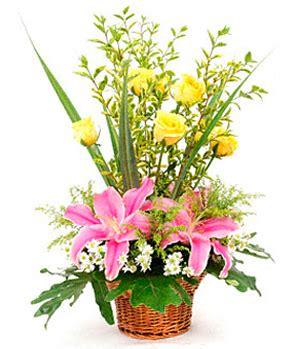 new year flower basket flowers baskets clipart best