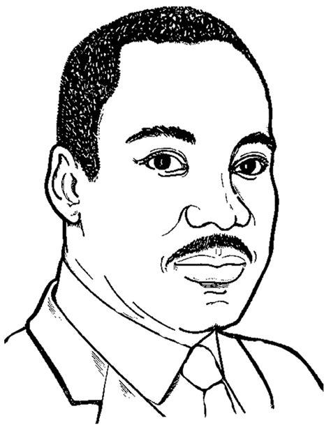 martin luther king jr coloring pages realistic coloring