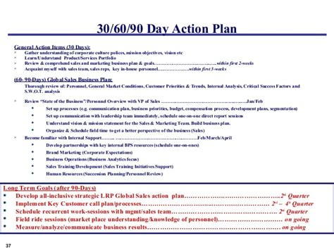 sales rep business plan template 30 day business plan 90 day business plan template free