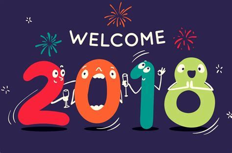 2018 Happy New Year Welcome Hd Wallpaper   Wallpapersfans.com