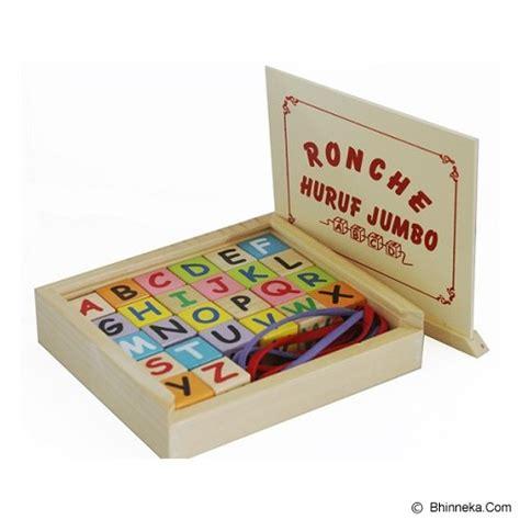 Ronche Abjad Lengkap Mainan Edukatif Edukasi Anak Kayu Sni Murah jual mainan kayu edukatif ronce abjad jumbo murah bhinneka