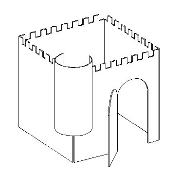 cut out castle template plywood playhouses for children