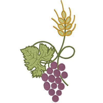 imagenes de uvas para bordar trigo y uva 19 cm dibujos iglesia pinterest