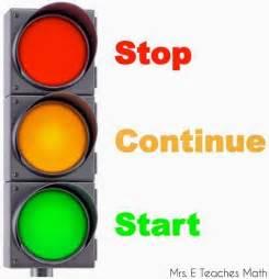 start stop continue template stop continue start mrs e teaches math