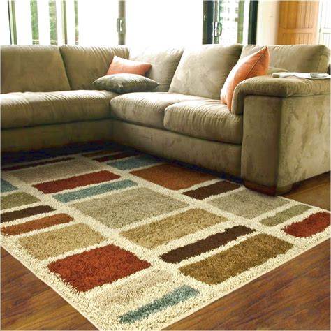 Rugs For Sectional Sofa Carpet Rugs Comfortable Beige Sectional Sofa And Colorful Striped Pattern On Laminate Wood