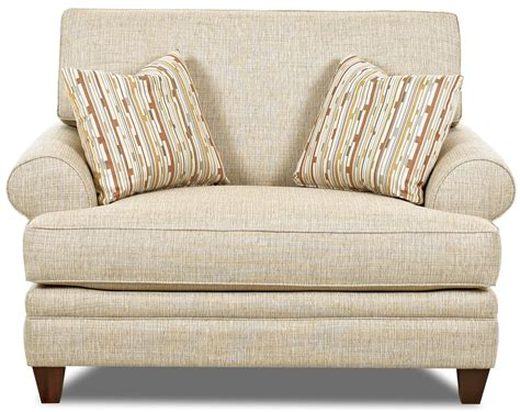 klaussner fresno transitional oversized chair  accent