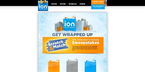 ion television holiday sweepstakes get wrapped up - Iontelevision Com Sweepstakes
