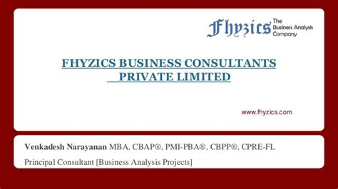 Pba Mba Requirements by Professional Consulting Services