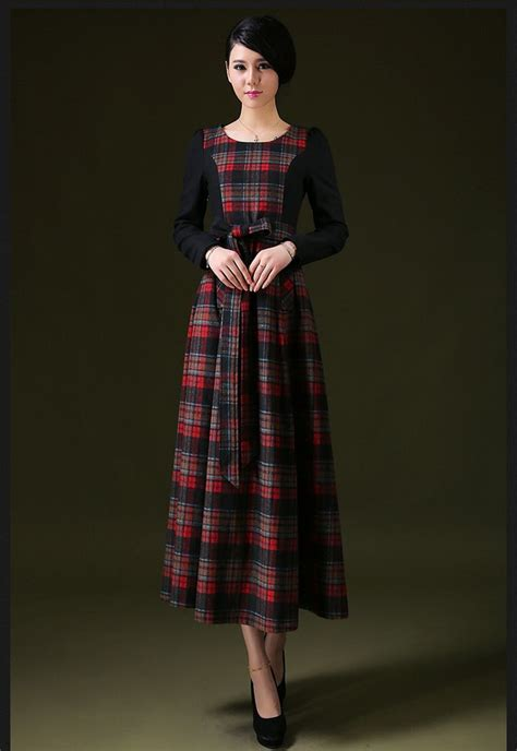 Dress Puff Trendy 2015 new winter sleeved wool dress puff bottoming korean version was thin stitching