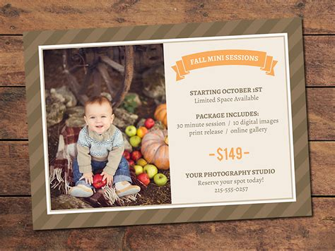 Marketing Materials Mini Session Cards Fall Mini Session Card Photographypla Net Mini Session Templates For Lightroom