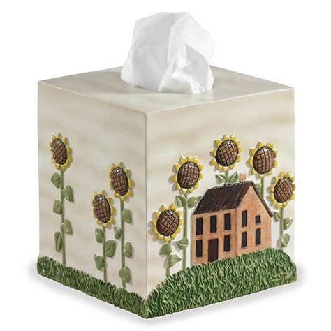 sunflower bathroom accessories house sunflower tissue box cover
