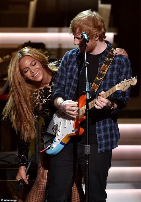 ed sheeran beyonce giddy ed sheeran can t believe his luck as he grins his