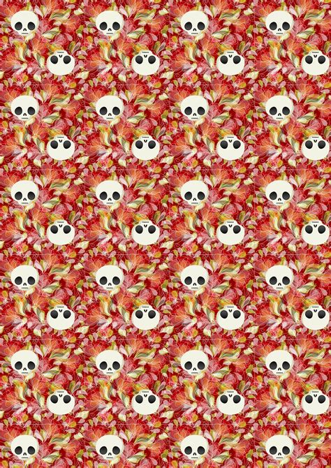 Free Craft Papers To Print - free scrapbook paper petals and skulls rooftop post