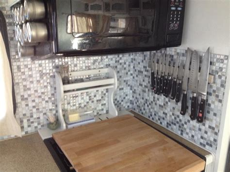 smart tiles backsplash a smart choice for tiles in a rv smart tiles follow the