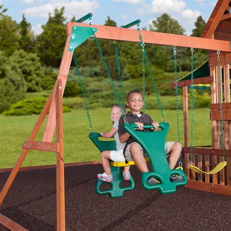 saratoga cedar swing set saratoga wooden swing set playsets backyard discovery