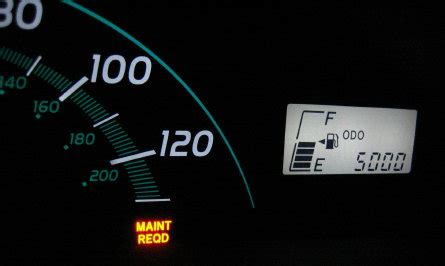 Maintenance Required Light Toyota by How To Reset The Quot Maint Reqd Quot Light On The 2005 And Up