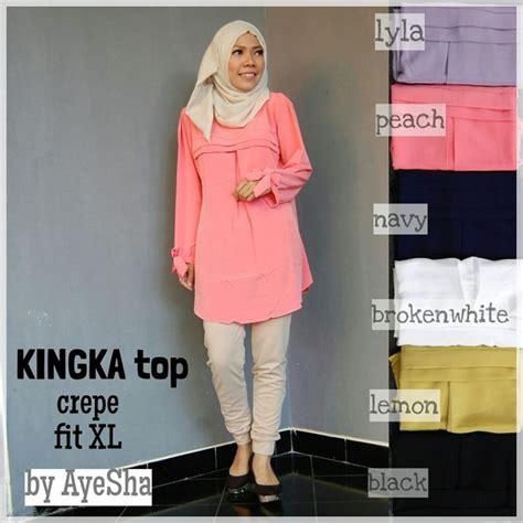 Loiza Top Atasan Grosir Baju Setelan Kemeja Wanita Mur Cqny atasan baju muslim kingka top grosir baju muslim pakaian wanita dan busana murah