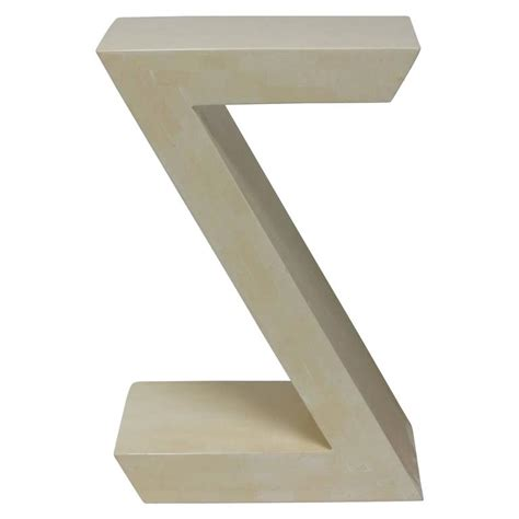 Z Shaped Side Table Tessellated Side Table Z Shaped Design For Sale At 1stdibs