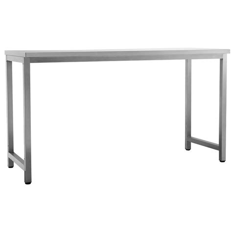 Stainless Steel Patio Table Newage Products Outdoor Kitchen Stainless Steel Rectangle Patio Dining Table 65008 The Home Depot