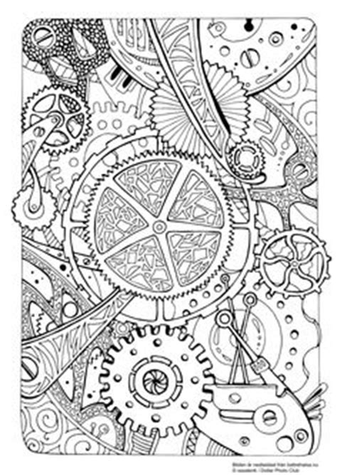 steampunk coloring page adult coloring fun