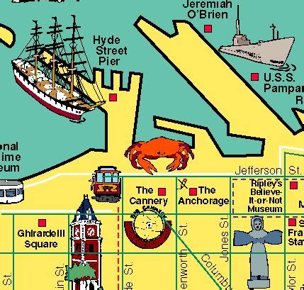 san francisco map of fishermans wharf 17 best images about pictorial maps by carol mendel on
