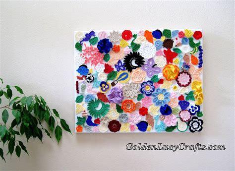 crochet wall hanging wall decoration wall art craft
