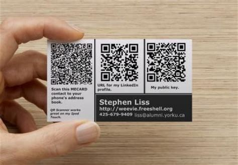 how to make qr code for business card nerdy business card with three qr codes