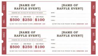 free raffle ticket template for word raffle ticket template word documents