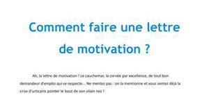 Conseils De Rédaction D Une Lettre De Motivation Aide Pour Faire Une Lettre De Motivation