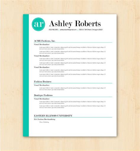 Resume Format Word Docx Resume Template Cv Template The Resume Design Instant Word